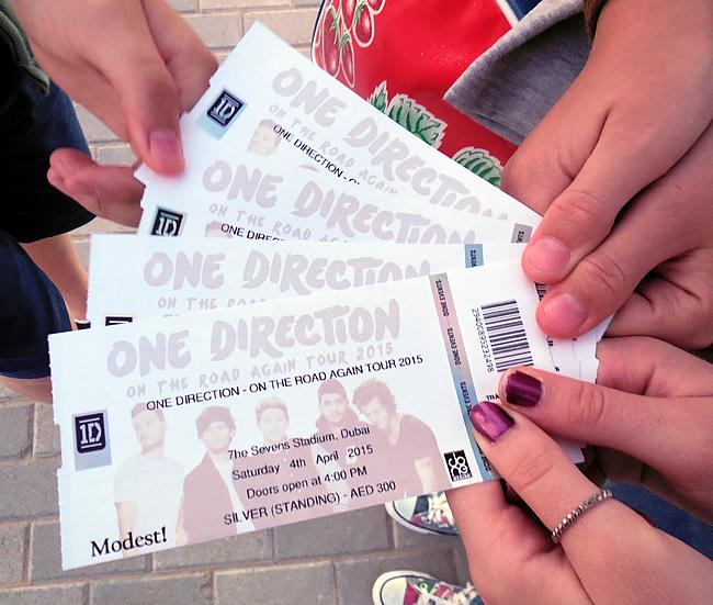 1D tickets voor Dubai concert