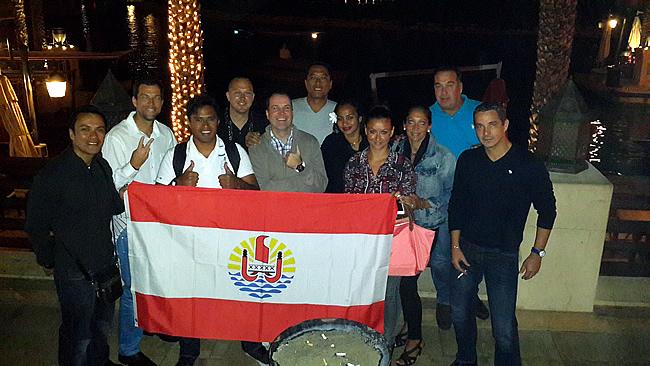 Air Tahiti Nui crew op bezoek in Madinat Jumeirah (Dubai)