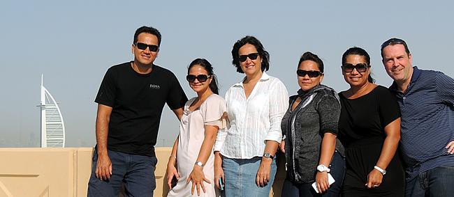 ATN crew aan Burj Al Arab