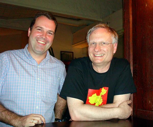 In Sydney met ex-Sabena collega Holger Hebert