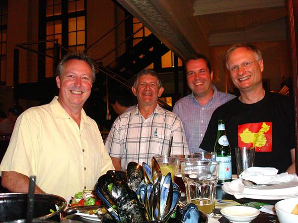 In Belgian Beer Café met ex-Sabena collega Holger Hebert