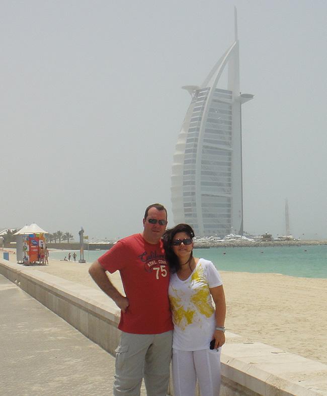 Zeven sterren hotel Burj al Arab in Dubai