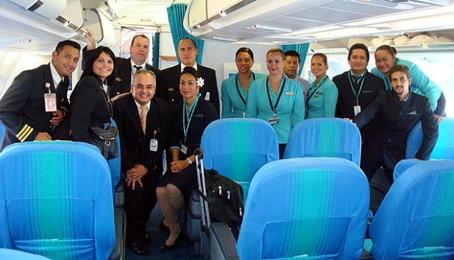 Conviasa - Air Tahiti Nui crew MAD-CSS