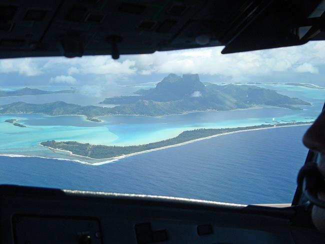 Air Tahiti vlucht Bora Bora