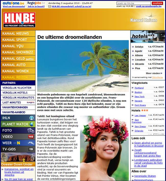 Het Laatste Nieuws over Tahiti