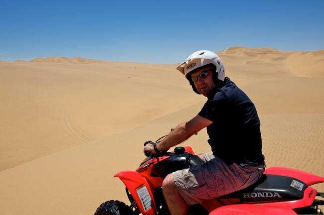 Quad-biking op de duinen