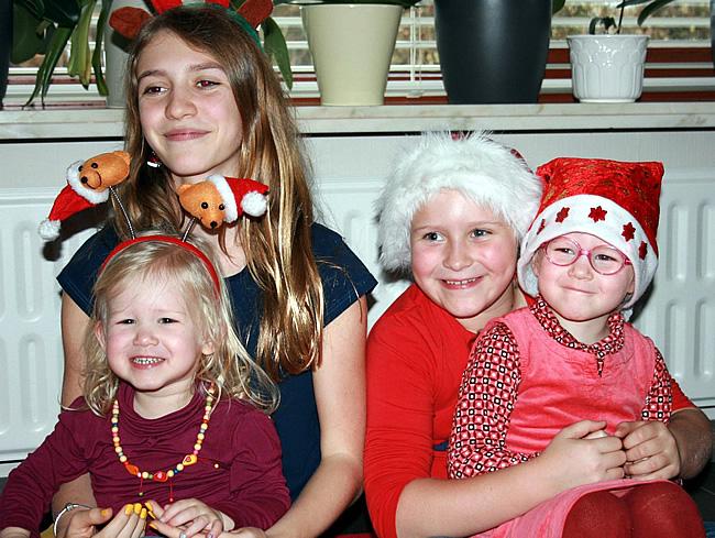 Sara, Roos, Febe en Maya
