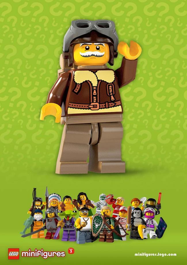 Lego minifiguur piloot