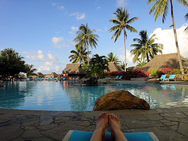 Zwembad Hilton Hotel Moorea
