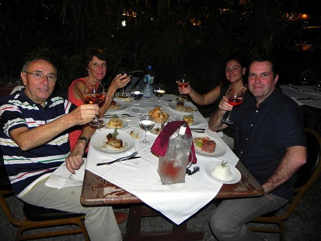Diner met Guy en Liliane Jouanneau