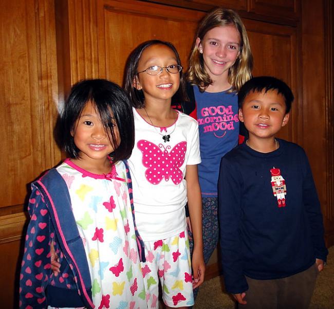 Hannah, Hallie, Sara en Eden