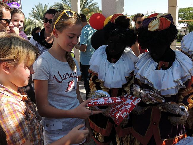 Sint en pieten in Dubai