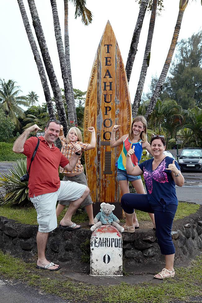 Tahitiaanse surfspot Teahupoo