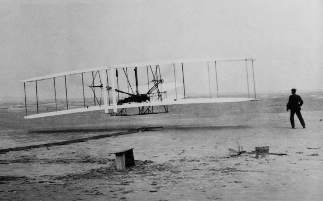 The Wright Brothers eerste vlucht uit 1903