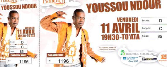 Youssou N'dour in Tahiti