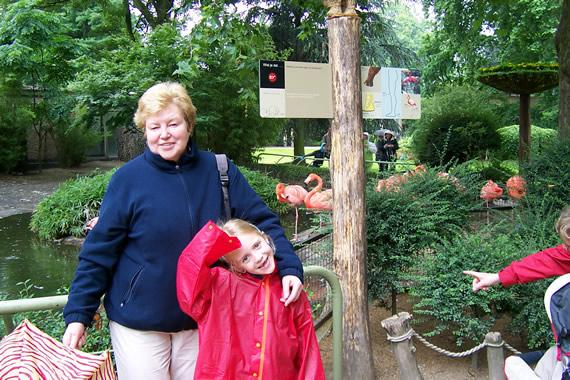 Rita en Sara in de zoo