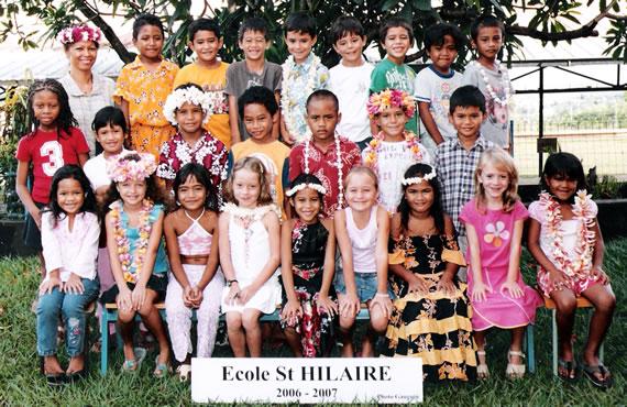 Klasfoto 2006-2007 St-Hilaire CP3