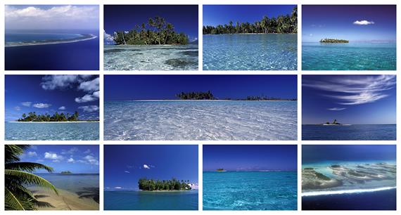 Motu's en eilanden van Frans-Polynesië