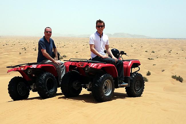 Quad biking Dubai desert