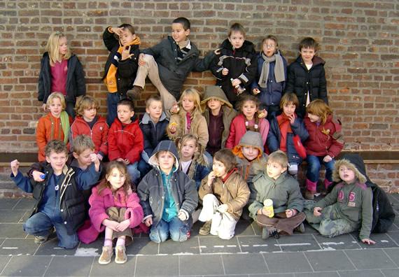 klasfoto 1ste leerjaar Vrije Basisschool Kumtich
