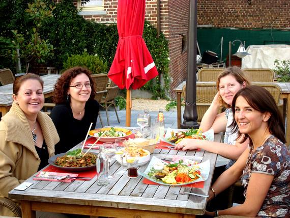 Kristel, Els, Linda en Karen