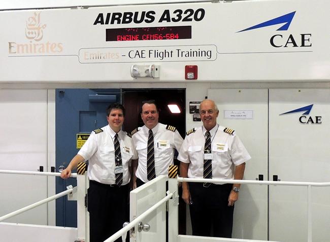 CAE Emirates Airbus A319 simulator in DSO