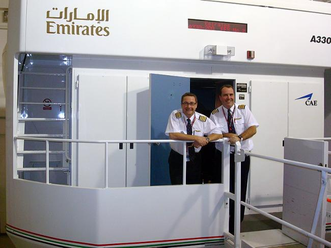 Emirates Airbus A330 simulator in Dubai
