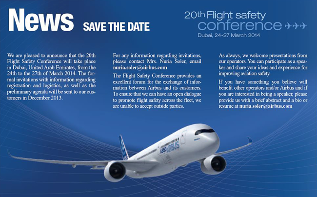 Airbus Safety Conference 2014 in Dubai