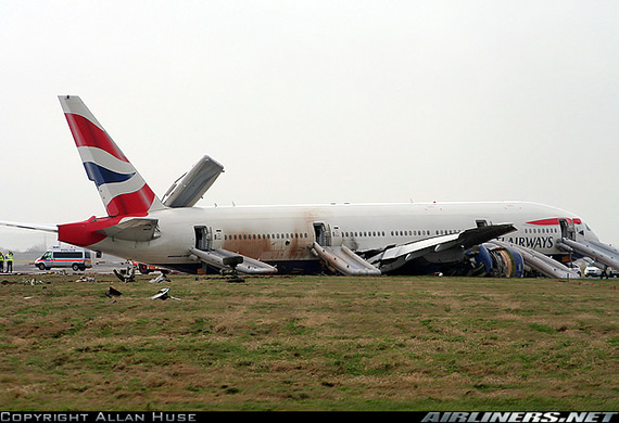 Picture of BA B777 crash at Heathrow