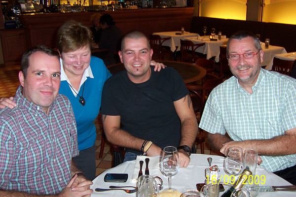 Jan, Rita, Wim en Pierre Ottenbourg