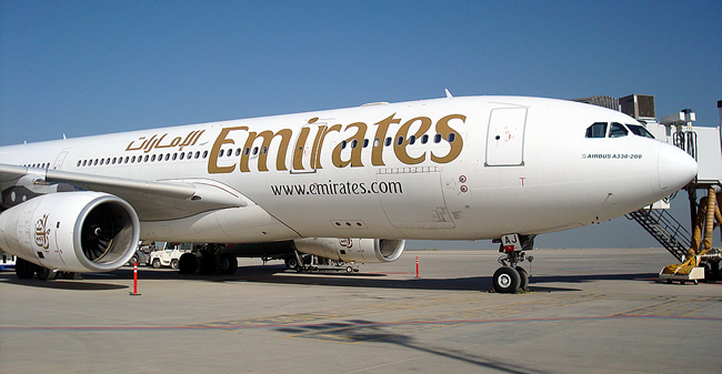 Emirates Airbus A330 in Erbil, Iraq