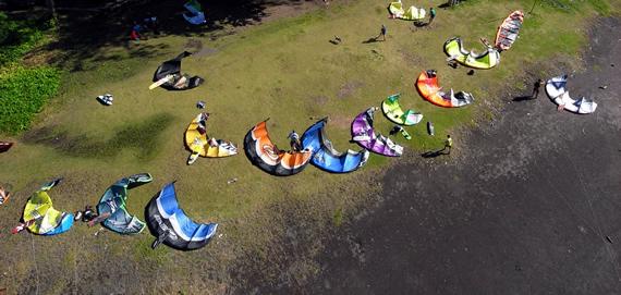 Kite Surfing in Tahiti