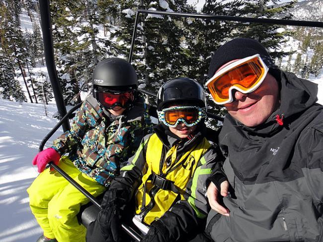 Op de skilift