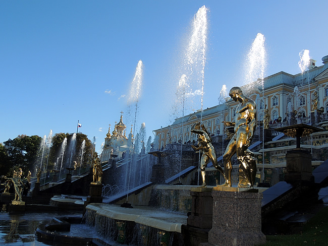 Peterhof fountains Saint-Petersburg, Russia