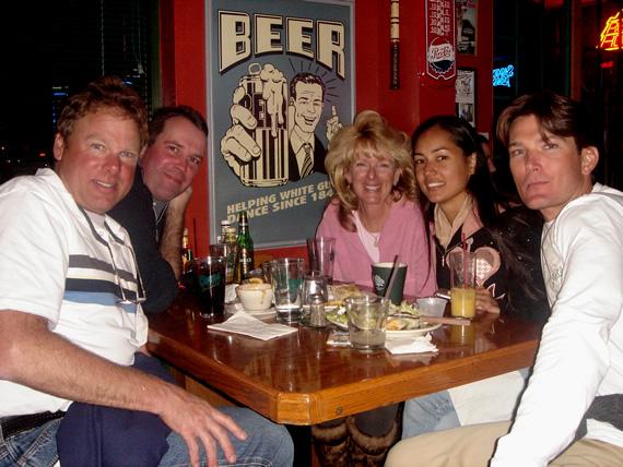 Peter, Jan, Sherry, Mahana en Benjamin