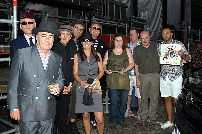 Backstage meet & greet met Madness