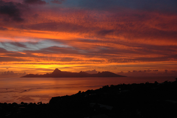 Sunset Moorea Tahiti