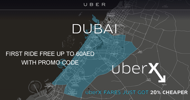 20% Uber korting deze zomer in Dubai