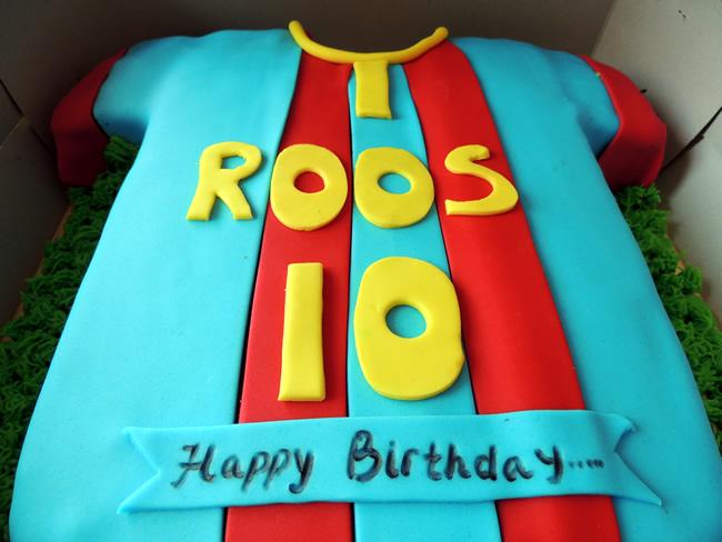 FC Barca taart voor 10 jaar Roos