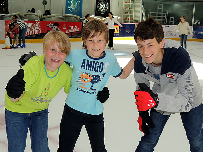 ijsschaatsen in Dubai Mall