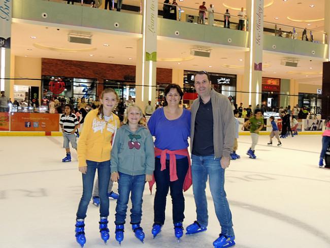 Schaatsen in Dubai op de Ice Rink in Dubai Mall