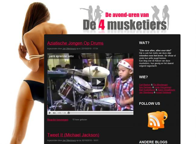 Screenshot website 4Musketiers