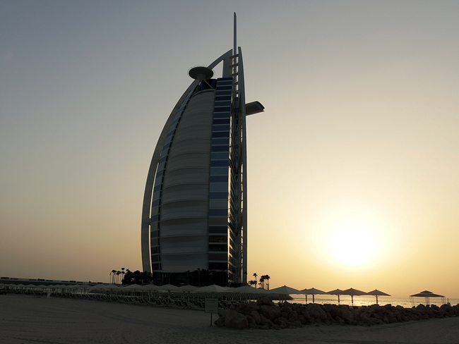 Burj Al Arab sunset